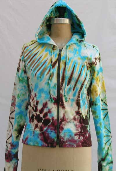 tie-dye mudmee hooded jacket