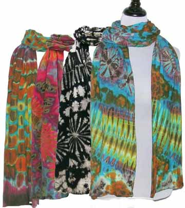 Tie-dye scarf collection
