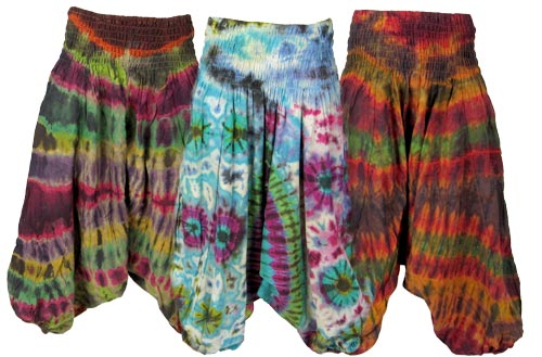 cotton tie dye hammer pants