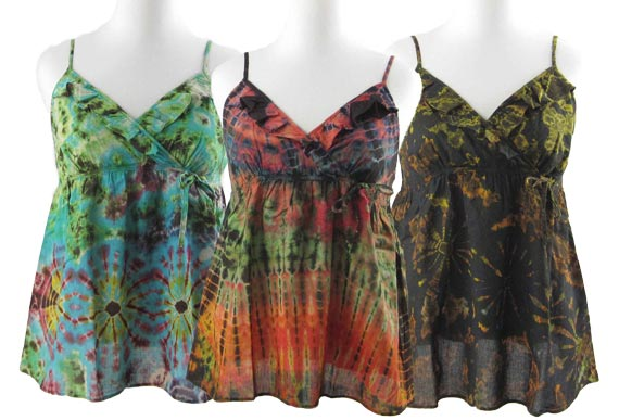collection of ruffle tanks