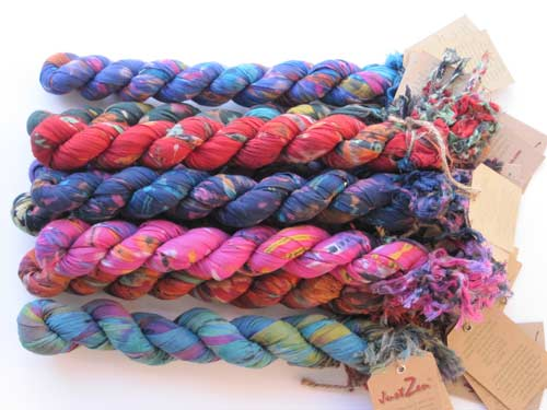 tied crinkle scarves