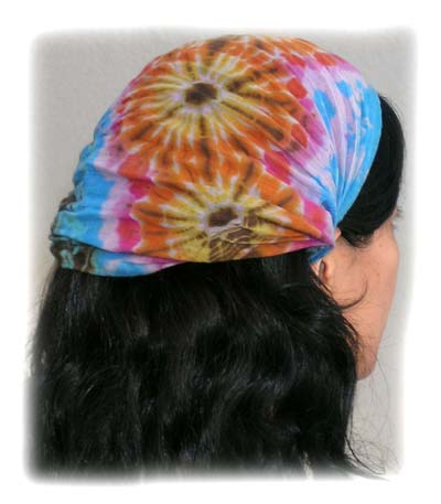 unfolded mudmee tie-die hairband