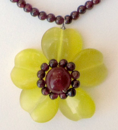 flower necklace pendant