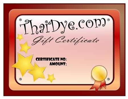 Taidye gift certificate for tie dye clothing